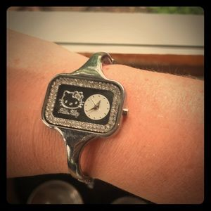 Hello Kitty silver watch
